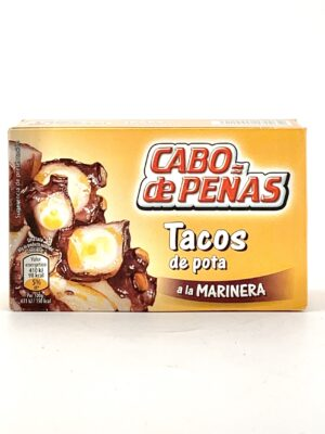 Tacos de pota a la marinera Cabo de Peñas
