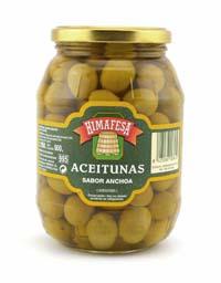 Aceitunas sabor anchoa Himafesa