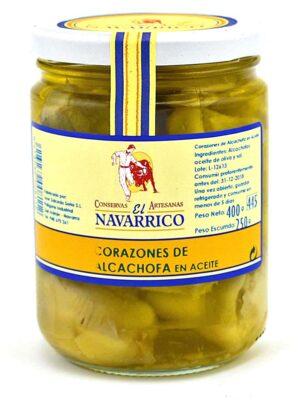 Corazones de alcachofa en aceite