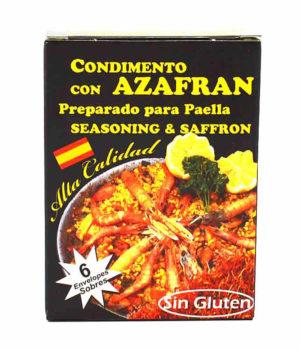 Condimiento con azafrán, preparado para paella