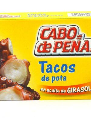 Tacos de pota en aceite de girasol Cabo de Peñas