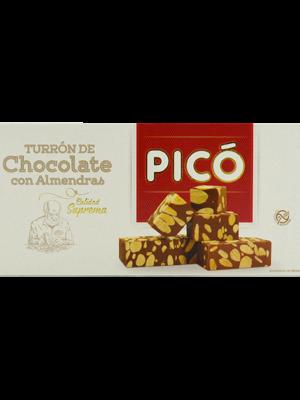 Turrón De Chocolate Con Almendras Pico