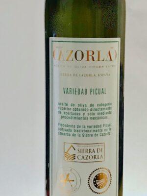 Aceite de Oliva Virgen Extra Sierra de Cazorla, España Variedad Picual