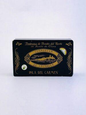 Buik van de bonito tonijn Isla del Carmen