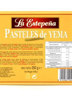 Pasteles de Yema
