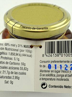 Honing met walnoten